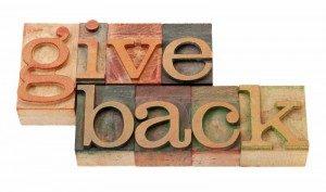 Give back to community logo