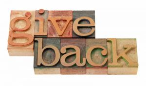 Give back LOGO. to represent our efforts to support local charities.