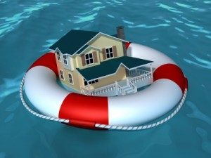 Image of a house in a life saver.